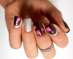 Nail art fleurs faciles et ruffian avec Essie http://melyne-nailart.com/2014/10/11/nail-art-fleurs-faciles-et-ruffian-avec-essie/