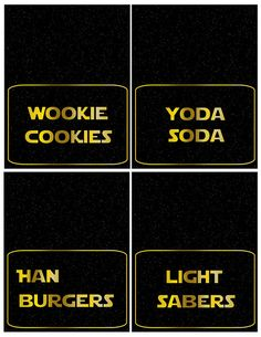 Star Wars Place Cards #starwars