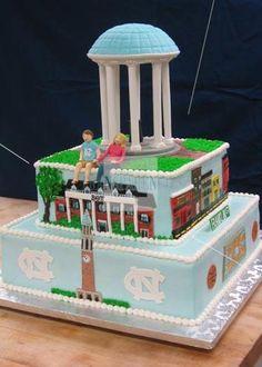 UNC/Franklin Street cake