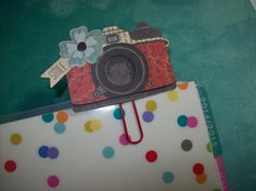 Use Code PLANNERLOVE for 30% off Your Order Through 6/2/15. ASprinkleOfLovely on Etsy. Handmade Camera Paperclip Page Marker for Planners.