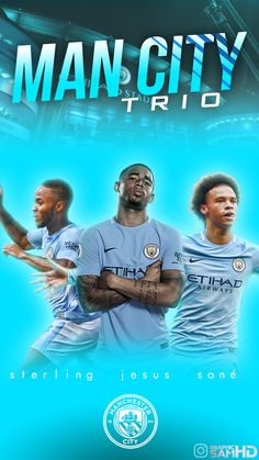 raheem sterling, gabriel jesus and Leroy sané manchester city Phone wallpaper Manchester City Logo, Manchester City Wallpaper, Back Wallpaper, Jesus Wallpaper, Zen, Raheem Sterling, Football Wallpaper, Sports Wallpapers, Soccer