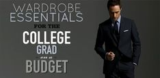 Until you graduated college, there wasn& much need for a week& worth of suits, dress shirts, and ties. Pulling together a professional wardrobe when you& offered a job doesn& need to be expensive or difficult. Business Attire For Men, Business Professional Outfits, Professional Dresses, Business Outfits, Professional Wardrobe, Business Wear, Corporate Attire, Young Professional, Job Interview Dress