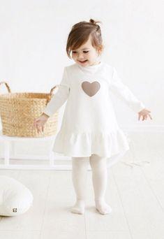 Little Girls Handmade Heart Dress | MyWhiteCup on Etsy