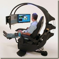 OMG, I totally want this!  modern comfortable ergonomic computer workstation design