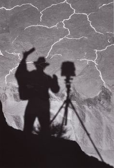 Ansel Adams , Self Portrait, Monument Valley, 1958