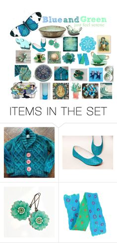 """""""blue and green , just feel serene"""" by belinda-evans on Polyvore featuring art"""