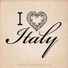 I Love Italy Digital Download for Image by DreamDigitalDownload