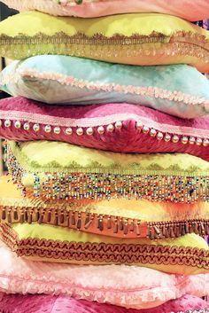 Pretty pastel pillows!