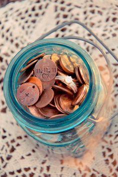Fun idea for a weeding! custom pennies!