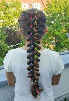 5strand braid with ribbon