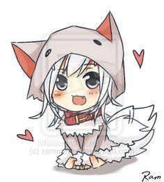 Minecraft chibi wolf tamed by rammkiler.deviantart.com on @deviantART