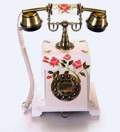 Antique Phone, Retro Phone, Vintage Phones, Say Hello, Telephone, Landline Phone, Vintage Items, Christmas Gifts, Jade