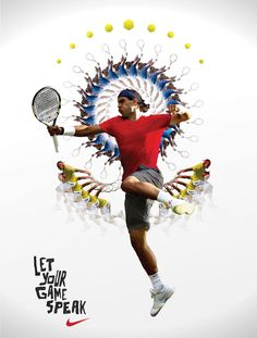 Tennis Shots: The Drop Shot Nike Tennis, Play Tennis, Tennis Serve, Graphic Design Brochure, Sports Graphic Design, Nike Poster, Nike Inspiration, Sports Advertising, Tennis Photos