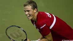 Vasek Pospisil from Vancouver - he is an exciting and intelligent athlete.  I hope he moves up the rankings.