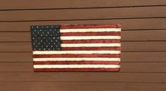 American Wooden Flag 3D Distressed