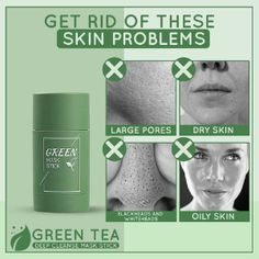Grüner Tee-Extrakt-Reinigungsmaske Stick Oily Skin, Sensitive Skin, Moisturizing Face Mask, Homemade Mask, Glycerin, Cleansing Mask, Skin Mask, Green Tea Extract, Blackhead Remover