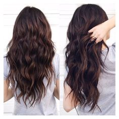 Dark chocolate brown hair ❤ liked on Polyvore featuring hair, beauty and hairstyle