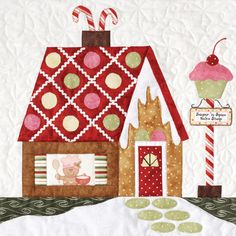 Sugar n' Spice quilt block, in:  Gingerbread Village at Quilt Company