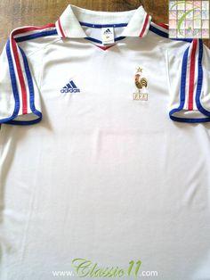 Relive France's 2000/2001 international season with this original Adidas away football shirt.