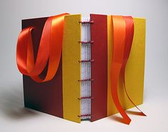 Ellen's 30th by Dennis Yuen. Bookcloth, Davey bookboard, decorative paper, lined-paper, ribbons. 2-needle copic binding, 116x149x25mm