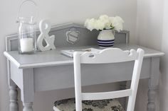 Lilyfield Life: Paris Grey Desk and Chair Makeover and Mother's day