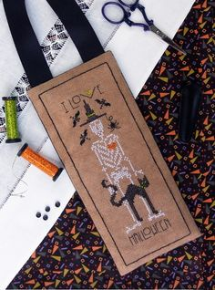 I Love Halloween cross stitch pattern by The Drawn Thread at www.thecottageneedle.com