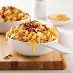 Mac'n cheese au bacon et fromage en grains - Je Cuisine
