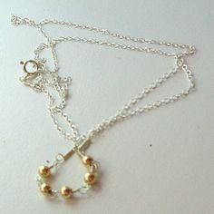 BAUBLE  delicate playful mixed metal necklace by CoupCoup on Etsy, $45.00