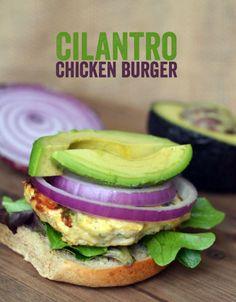 Cilantro Chicken Burger - Fit Foodie Finds
