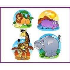 Wandtattoo - Safari EUR 24,99  Größe ca 30 cm pro Sticker