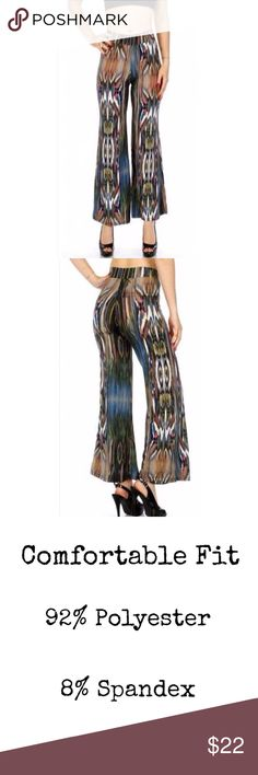 Multi-Print Palazzo Pants. Reminds me of the 70's. See photo please. Pants Wide Leg