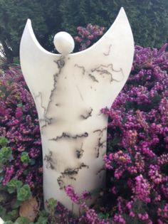 Engel Keramik poliert mit Rosshaar eingebrannt bei 600 Grad / angel horse hair raku pottery