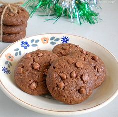 Eggless Chocolate Cookies