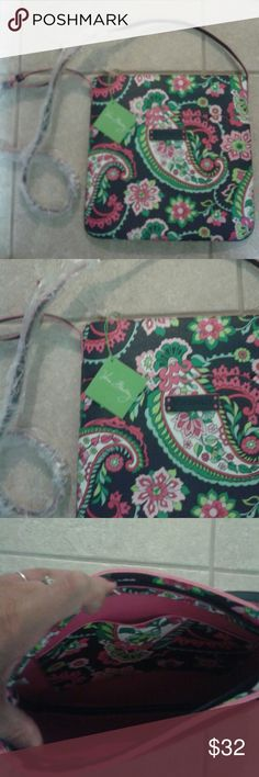 """NWT Vera Bradley slim hipster petal paisley handba NWT beautiful vibrant Vera Bradley slim hipster petal paisley handbag authentic with tags attached,  Vera Bradley logo design on front of handbag, large storage space for all your essentials, has large pocket compartments inside and floral print, outside pocket on front of handbag,brand new, super cute!New!Never used, 10""""length and 11""""width, 10 """"deep,  straps are 24""""length, beautiful colors and gorgeous designer bag for casual or dressy…"""