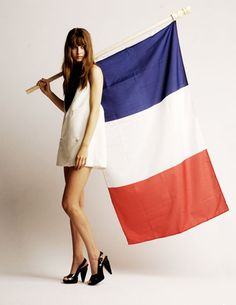 3 words I know in French: Bleu, Blanc, Rouge French Fashion, Love Fashion, France Flag, Pin Up, Bastille, I Love Paris, Jane Birkin, Shirtwaist Dress, Street Look