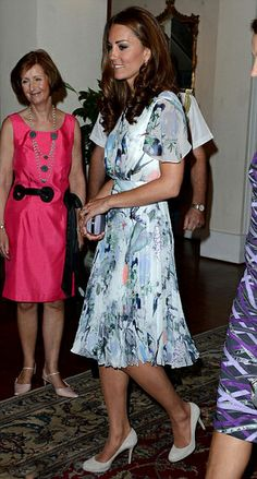 Kate, the Duchess opts for a safe but dowdy Erdem Meryl dress