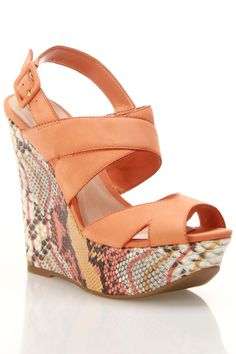Schutz Cameron Wedges In Clementine
