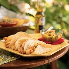 Tilapia Tacos with Peach Relish Recipe