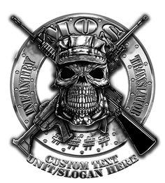 Military MOS Skull Shirt  17.76 Tatuagens Militares 055378ec079