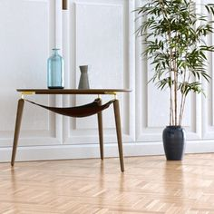 Umage Hang Out Coffee Table - Dark oak This delightful coffee table has the design and quality you would expect from a Danish company. A clever practical design Small Tables, Side Tables, Hospitality Design, Simple Shapes, Neutral Colors, Hanging Out, Green And Grey, Dining Chairs, Wood