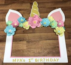 Birthday Party Decorations 606930487257049305 - Unicorn Theme Photo Booth Frame CUSTOM Photo Booth Props Source by Birthday Party Places, Unicorn Themed Birthday Party, Unicorn Birthday Parties, First Birthday Parties, Birthday Party Decorations, First Birthdays, 8th Birthday, Unicorn Party Decor, 1st Birthday Party Ideas For Girls