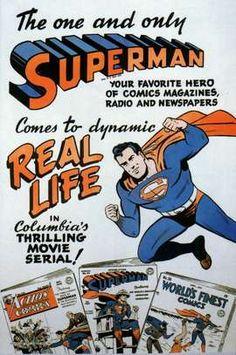 Superman serial movie poster