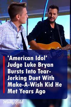 'American Idol' Judge Suddenly Bursts Into Unexpected Duet With Make-A-Wish Kid He Met Years Ago! #AmericanIdol @lukebryanonline #EthanPayne #countrymusic #ethanpayne