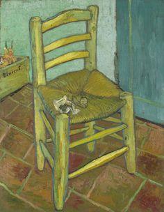 Art of the Day: Van Gogh, Van Gogh's Chair, December 1888. Oil on canvas, 91.8 x 73 cm. National Gallery, London.