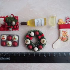 Nativity Village Market Accessory Dollhouse Food Pantry Cheese Eggs Chicken