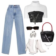 Kpop Fashion Outfits, Stage Outfits, Edgy Outfits, Retro Outfits, Cute Casual Outfits, Edgy School Outfits, Polyvore Outfits Casual, Look Fashion, Korean Fashion