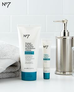 Get visibly younger skin thanks to the No7 Protect & Perfect Intense Advanced Serum and Body Serum. #BestKeptSerum