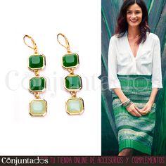 Los #pendientes largos Emerald #verdes son unos preciosos y finos #accesorios muy cómodos, ya que no pesan prácticamente nada, ideales para cualquier ocasión ★ Precio: 8,95 € en http://www.conjuntados.com/es/pendientes-emerald-verdes.html ★ #novedades #earrings #conjuntados #conjuntada #joyitas #jewelry #bisutería #bijoux #complementos #tendencias #outfit #moda #fashion #estilo #style #GustosParaTodas #ParaTodosLosGustos