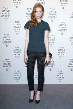 Jessica Joffe at Chanel's The Little Black Jacket exhibition opening.