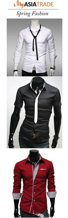 Korean style Men's shirt. Spring fashion.